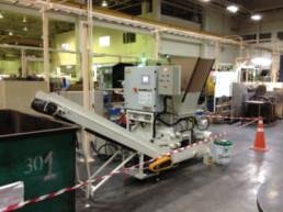 WETアルミ切粉圧縮固形化装置